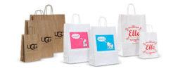 Печать логотипа на бумажном крафт пакете в Днепре