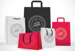 Печать логотипа на бумажном крафт пакете в Одессе